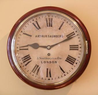 12inch Dial Clock Arthur Saunders London