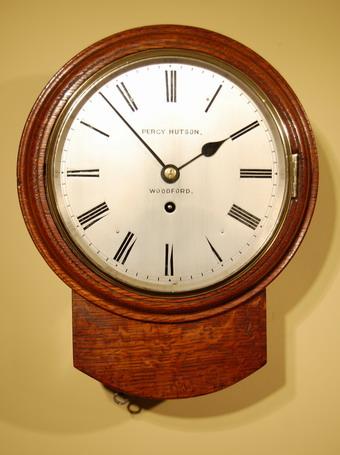 Oak Dial Clock Hutson Of Woodford