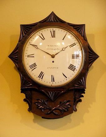 drop dial wall clock star shape